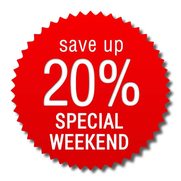 Speciale Week End > risparmi 20%!