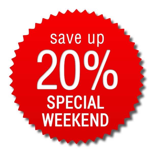 Speciale Week End > risparmi 20%!