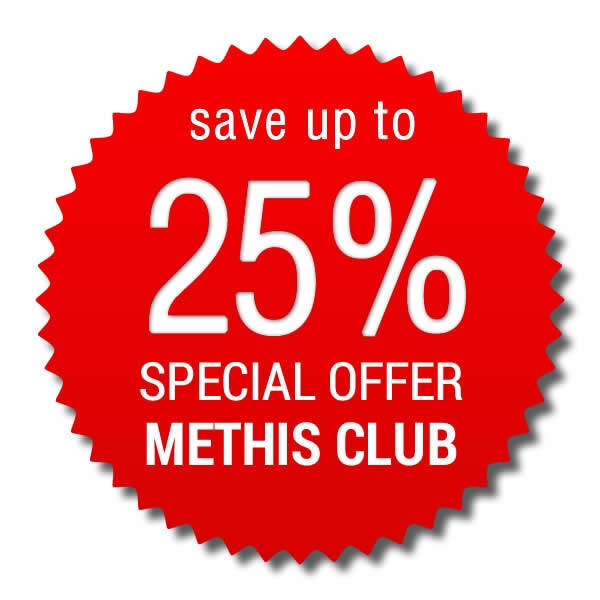Special Offer Methis Club > save up to 25%!