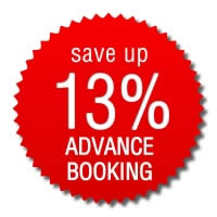 Book in Advance > save up 13%!