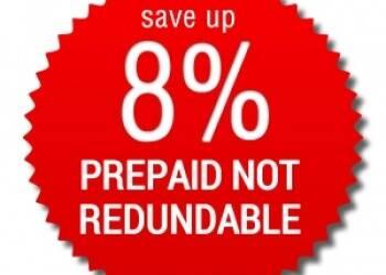 Tariffa Prepagata Non Rimborsabile > risparmi 8%!